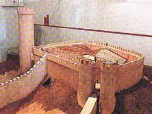 Maquette du château, état du XIII ème siècle